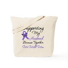 Hodgkin's Support Husband Tote Bag