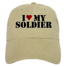 I Love my Soldier Baseball Cap
