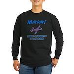 Sasquatch On The Plane! Long Sleeve Dark T-Shirt