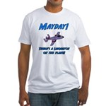 Sasquatch On The Plane! Fitted T-Shirt