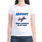 Sasquatch On The Plane! Jr. Ringer T-Shirt
