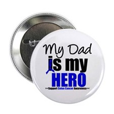 """Colon Cancer Hero 2.25"""" Button (10 pack)"""