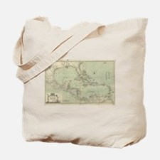 Vintage Map of The Caribbean (1774) Tote Bag