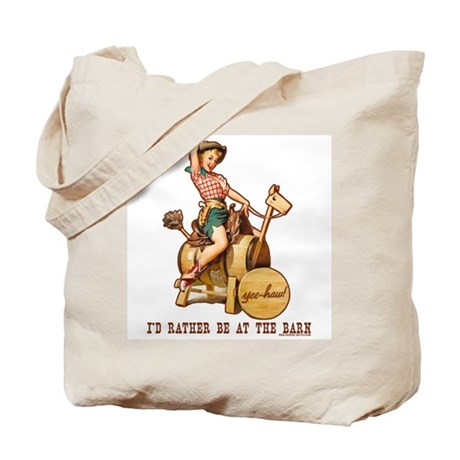I'd rather be at the barn Tote Bag