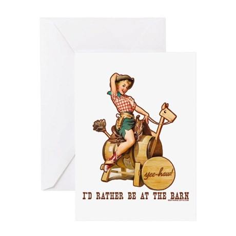 I'd rather be at the barn Greeting Card