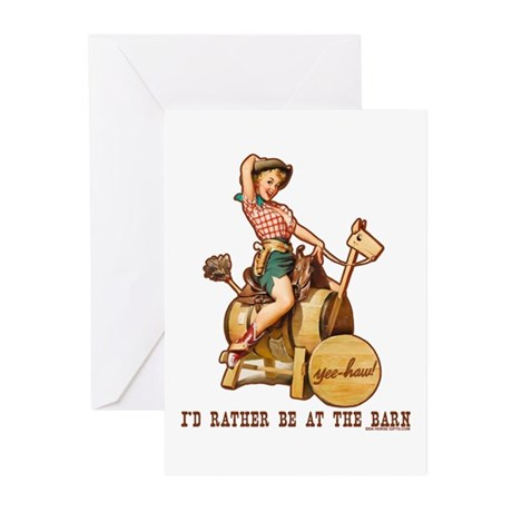 I'd rather be at the barn Greeting Cards (Pk of 10