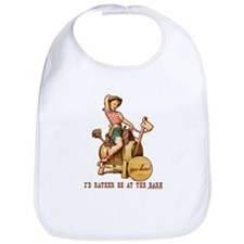 I'd rather be at the barn Bib