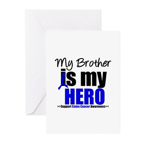 Colon Cancer Hero Greeting Cards (Pk of 10)