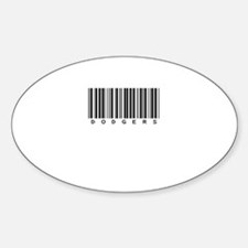 Dodgers Oval Sticker (10 pk)