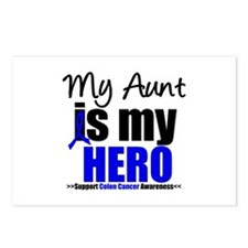 Colon Cancer Hero Postcards (Package of 8)