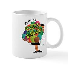 Knitting Takes Balls Mug