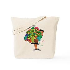 Knitting Takes Balls Tote Bag