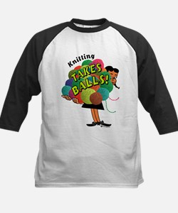 Knitting Takes Balls Tee