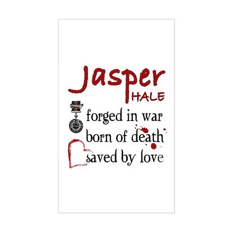 Jasper: Saved by Love Rectangle Sticker