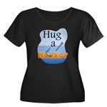 Hug a Hooker - Women's Plus Size Scoop Neck Dark T