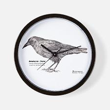 American Crow -Wall Clock