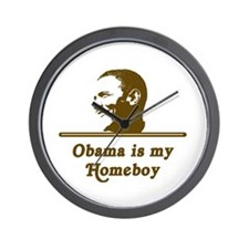 Obama Is My Homeboy Wall Clock