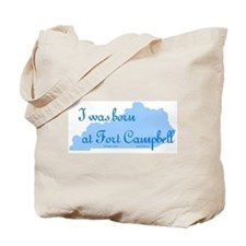 Born at Fort Campbell (blue) Tote Bag