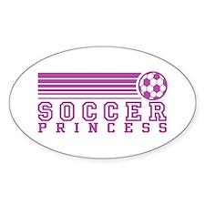 Soccer Princess Oval Decal