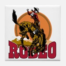 Rodeo Bronco Tile Coaster