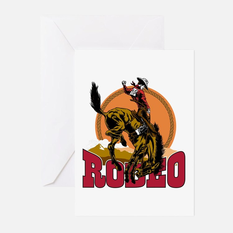 Rodeo Bronco Greeting Cards (Pk of 20)