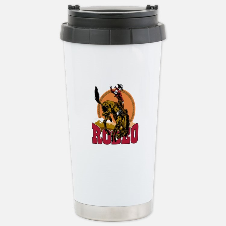 Rodeo Bronco Travel Mug