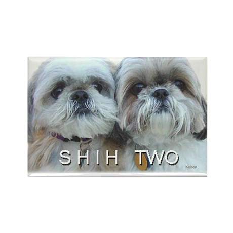 Shih Tzu - Shih Two Rectangle Magnet (10 pack)