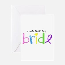 A Note from the Bride wedding card
