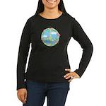 Peace Flowers Women's Long Sleeve Dark T-Shirt