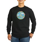 Peace Flowers Long Sleeve Dark T-Shirt
