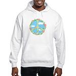Peace Flowers Hooded Sweatshirt