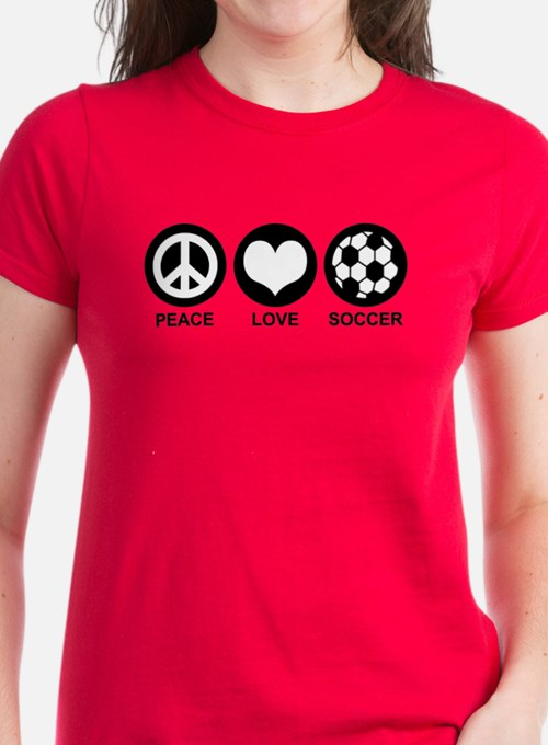 Peace Love Soccer Tee