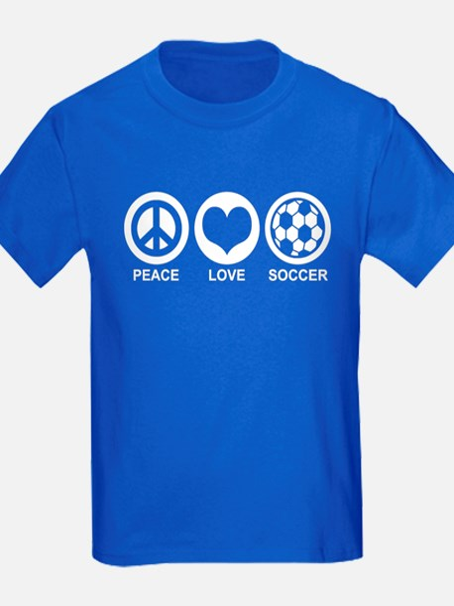 Peace Love Soccer T