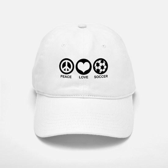 Peace Love Soccer Baseball Baseball Cap