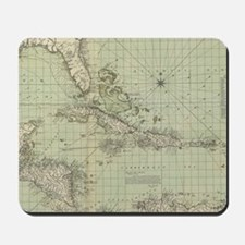 Vintage Map of The Caribbean (1774) Mousepad