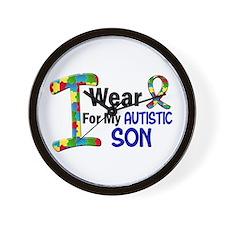 I Wear Puzzle Ribbon 21 (Son) Wall Clock