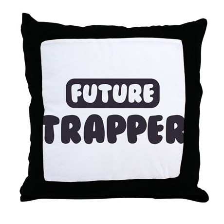 Future Trapper Throw Pillow