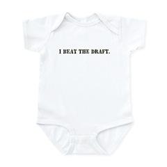 I BEAT THE DRAFT Infant Bodysuit