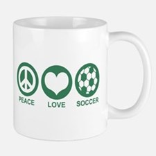Peace Love Soccer Mug
