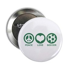 "Peace Love Soccer 2.25"" Button"