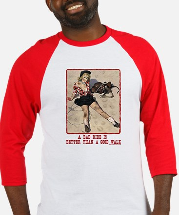 Cowgirl Bad Ride Baseball Jersey