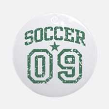 Soccer 09 Ornament (Round)