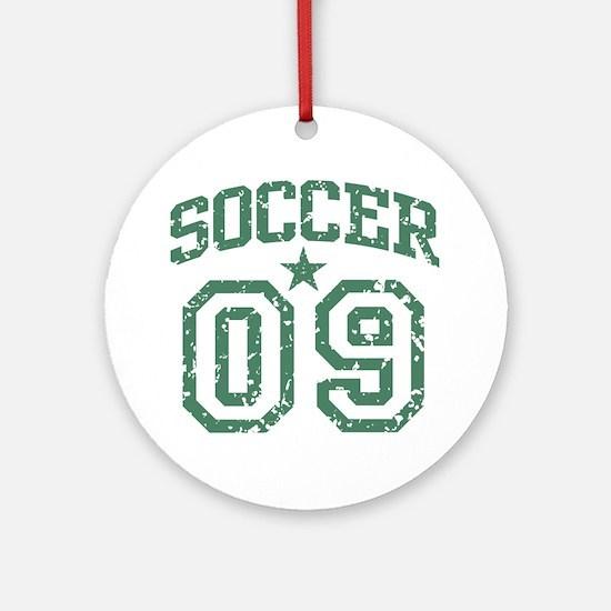 Soccer 09 Ornament (Round)