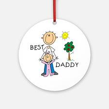 Best Daddy Ornament (Round)