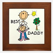 Best Daddy Framed Tile
