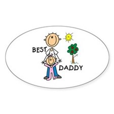 Best Daddy Oval Decal