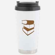 Stack Of Brown Books Travel Mug