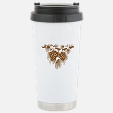 Snowy Pinecones Travel Mug