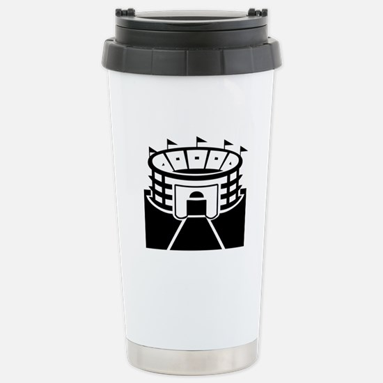 Black Stadium Stainless Steel Travel Mug