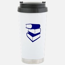 Stack Of Blue Books Travel Mug